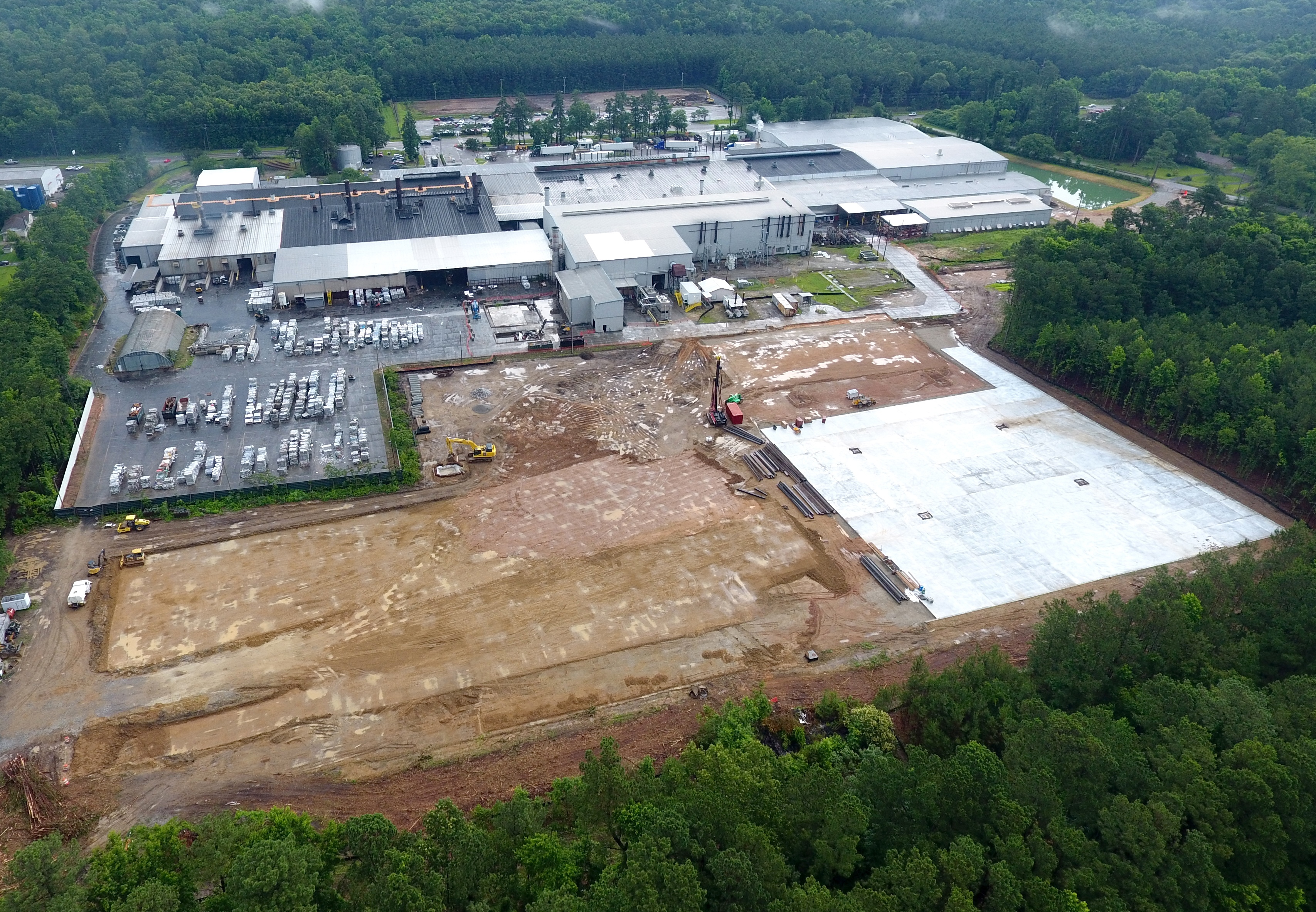 JW Aluminum South Carolina Expansion Construction Area
